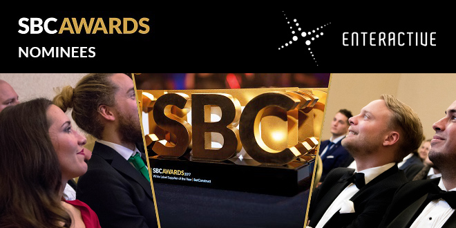 SBC Awards Enteractive nominations